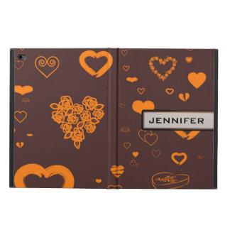 Modern Heart Elegant Orange Brown Powis iPad Air 2 Case