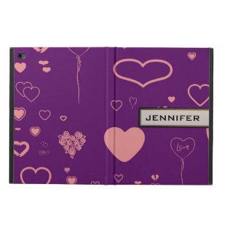 Modern Heart Elegant Purple Powis iPad Air 2 Case
