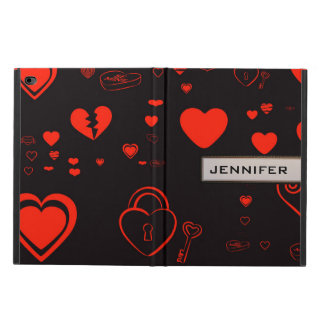 Modern Heart Elegant Red Black Powis iPad Air 2 Case
