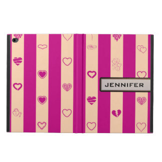 Modern Heart Elegant Royal Fuchsia Stripe Powis iPad Air 2 Case