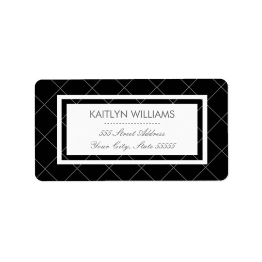 Modern Heart Return Address Label