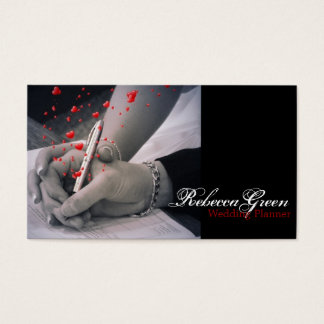 modern hearts Lovers Las Vegas Wedding Business Card