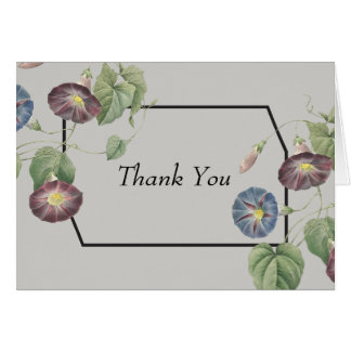 Modern Heirloom Morning Glory Thank You Card