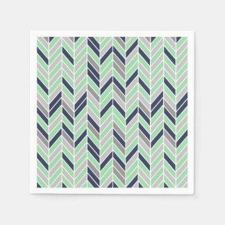 Modern Herringbone Chevron Geometric Pattern Paper Napkins