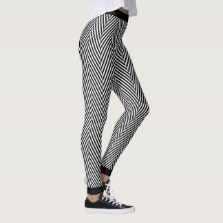 Modern herringbone texture printed leggings