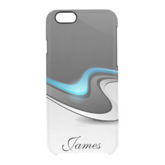 Modern Hi-Tech Waves Clear iPhone 6/6S Case