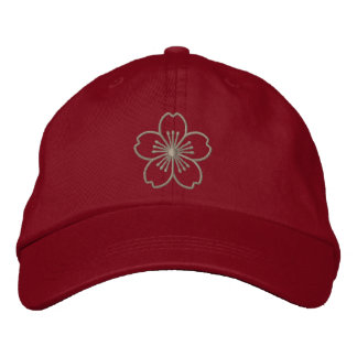 Modern Hibiscus Embroidered Baseball Cap