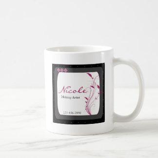 Modern High Style Black Grey Pink Coffee Mug