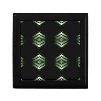 Modern Hip Black Green Pattern Gift Box