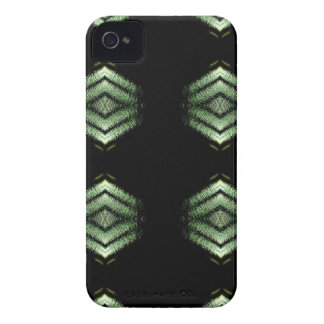 Modern Hip Black Green Pattern iPhone 4 Cover