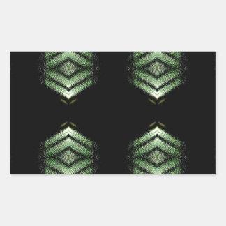 Modern Hip Black Green Pattern Rectangular Sticker