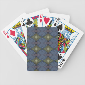 Modern Hip Blue Earth Green Diamond Pattern Bicycle Playing Cards