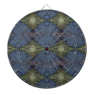Modern Hip Blue Earth Green Diamond Pattern Dartboard