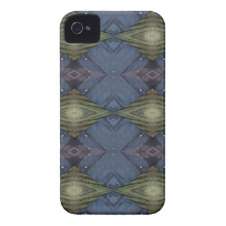 Modern Hip Blue Earth Green Diamond Pattern iPhone 4 Covers