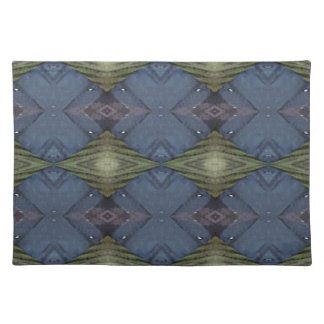 Modern Hip Blue Earth Green Diamond Pattern Placemat