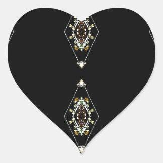 Modern Hip Masculine Pattern Heart Sticker