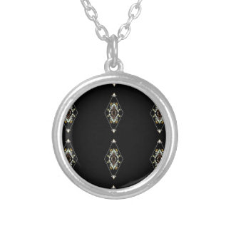 Modern Hip Masculine Pattern Silver Plated Necklace
