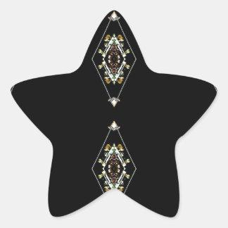 Modern Hip Masculine Pattern Star Sticker