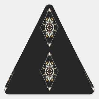 Modern Hip Masculine Pattern Triangle Sticker
