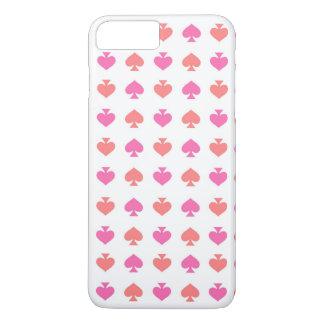 Modern & Hip Pink Orange Spade iPhone 7 PLUS Case