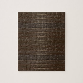 Modern Hip Shades of Brown Textured Pattern Jigsaw Puzzle