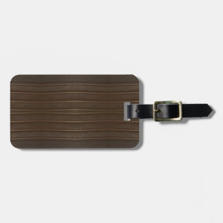 Modern Hip Shades of Brown Textured Pattern Luggage Tag