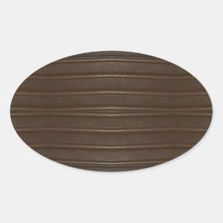 Modern Hip Shades of Brown Textured Pattern Oval Sticker