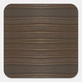 Modern Hip Shades of Brown Textured Pattern Square Sticker