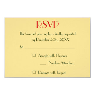 Modern Holiday Christmas Wedding Faux Gold RSVP Card