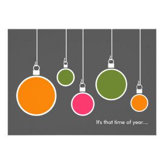 Modern Holiday Invitation - Dark Gray