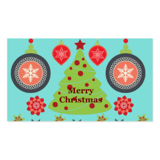 Modern Holiday Merry Christmas Tree Snowflakes Pack Of Standard Business Cards