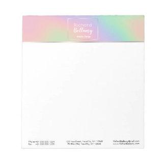 Modern Holographic Rainbow Metal - Notepad