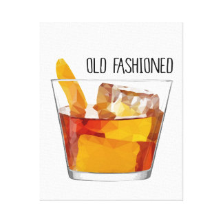 Modern Home Decor Old Fashioned Cocktail Canvas Canvas Print