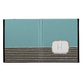 Modern Horizontal Stripe Glitter Look Bling Mod iPad Cases