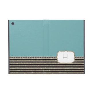 Modern Horizontal Stripe Glitter Look Bling Mod iPad Mini Cases
