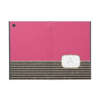 Modern Horizontal Stripe Glittler Look Bling Mod Cases For iPad Mini