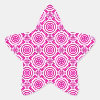 Modern Hot Pink and White Stylish Circles Pattern Sticker