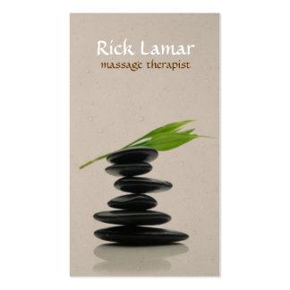 Modern Hot Stone Massage Therapist Business Card