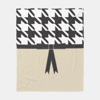 Modern Houndstooth Fleece Blanket