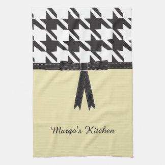 Modern Houndstooth Tea Towel