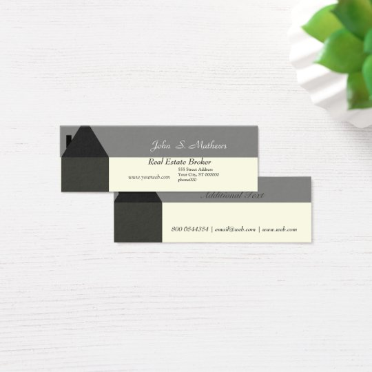 Modern House Realtor House Services Provider Mini Business Card