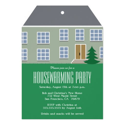 Modern housewarming party invitation custom invite