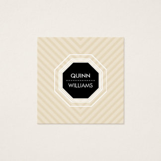 MODERN ICON LOGO octogon geometric angled natural Square Business Card