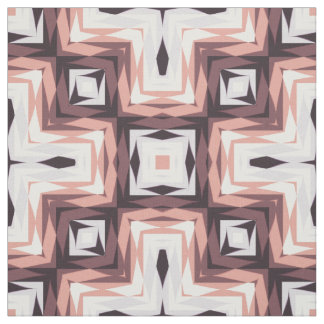 Modern Ikat Tribal Coral and Purple Fabric