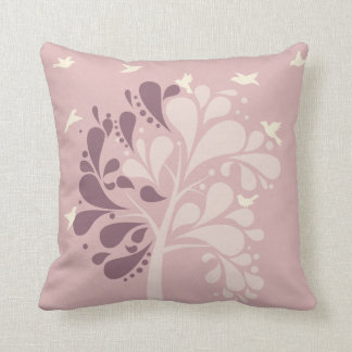 Modern Illustrate Shady Tree Pastel Color Pillow