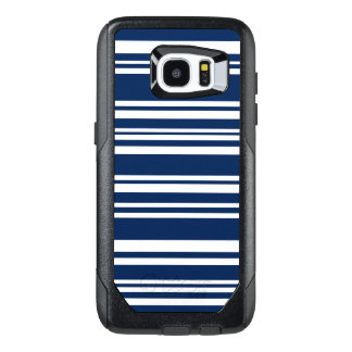 Modern Indigo and White Stripes OtterBox Samsung Galaxy S7 Edge Case
