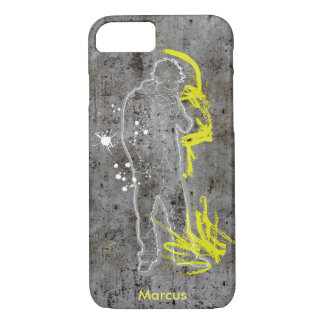 Modern Industrial urban grunge rusty concrete iPhone 7 Case