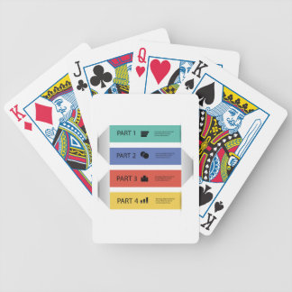 modern info graphic bicycle playing cards