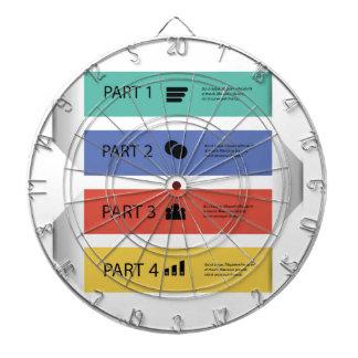 modern info graphic dartboard