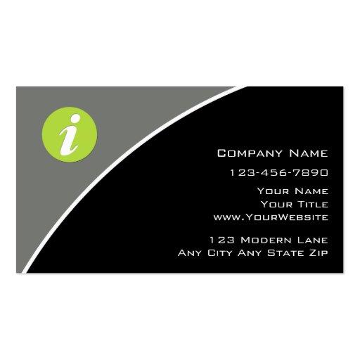 Modern Information Technology Business Cards